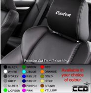 Custom Lettering Car seat Decals